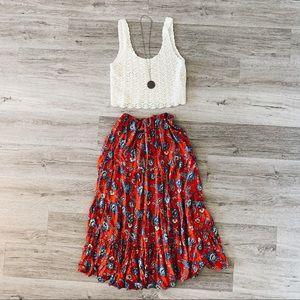 White Stag Boho Paisley Maxi Skirt 4
